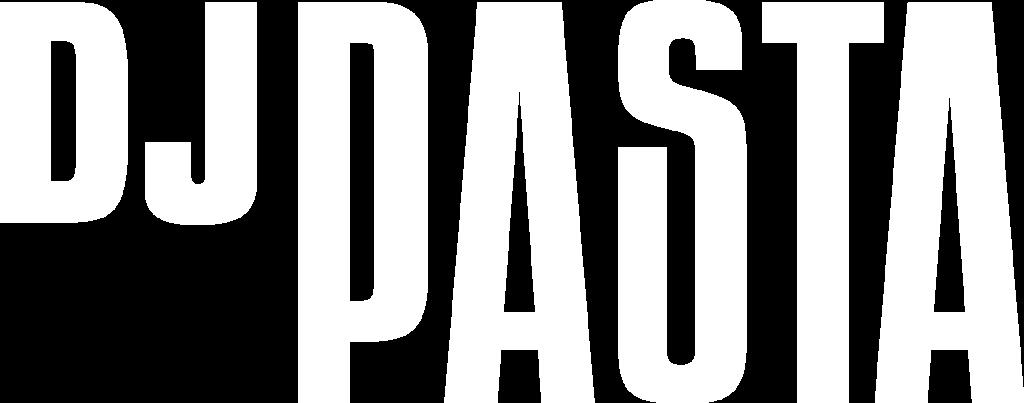 dj pasta logo bianco